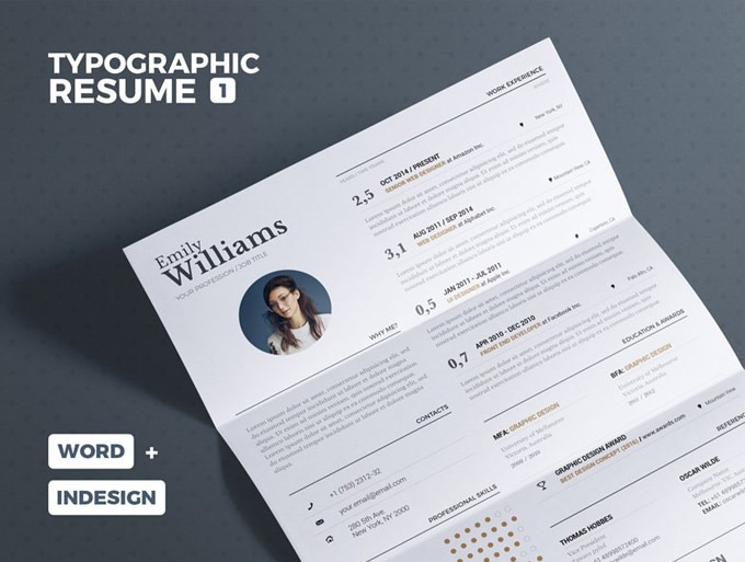 01 - Typgraphic Resume Template