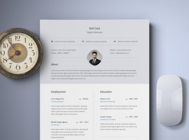 1 - Free Classy Resume Template