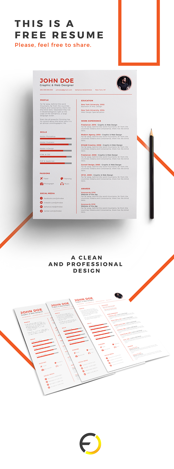 1 - Resume Template Free