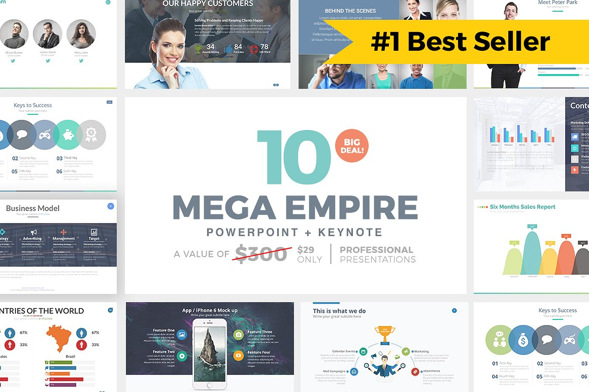 1. MEGA EMPIRE PowerPoint + Keynote