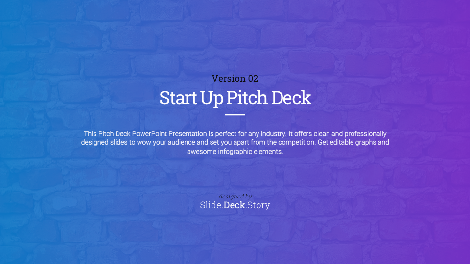 1. Pitch Deck Start Up PowerPoint