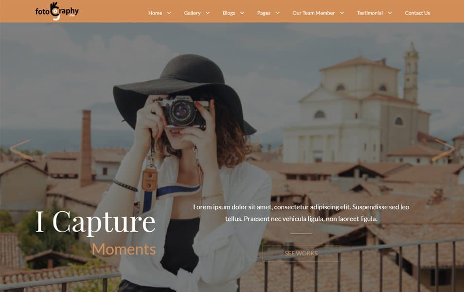 10 - FotoGraphy Responsive WordPress Theme