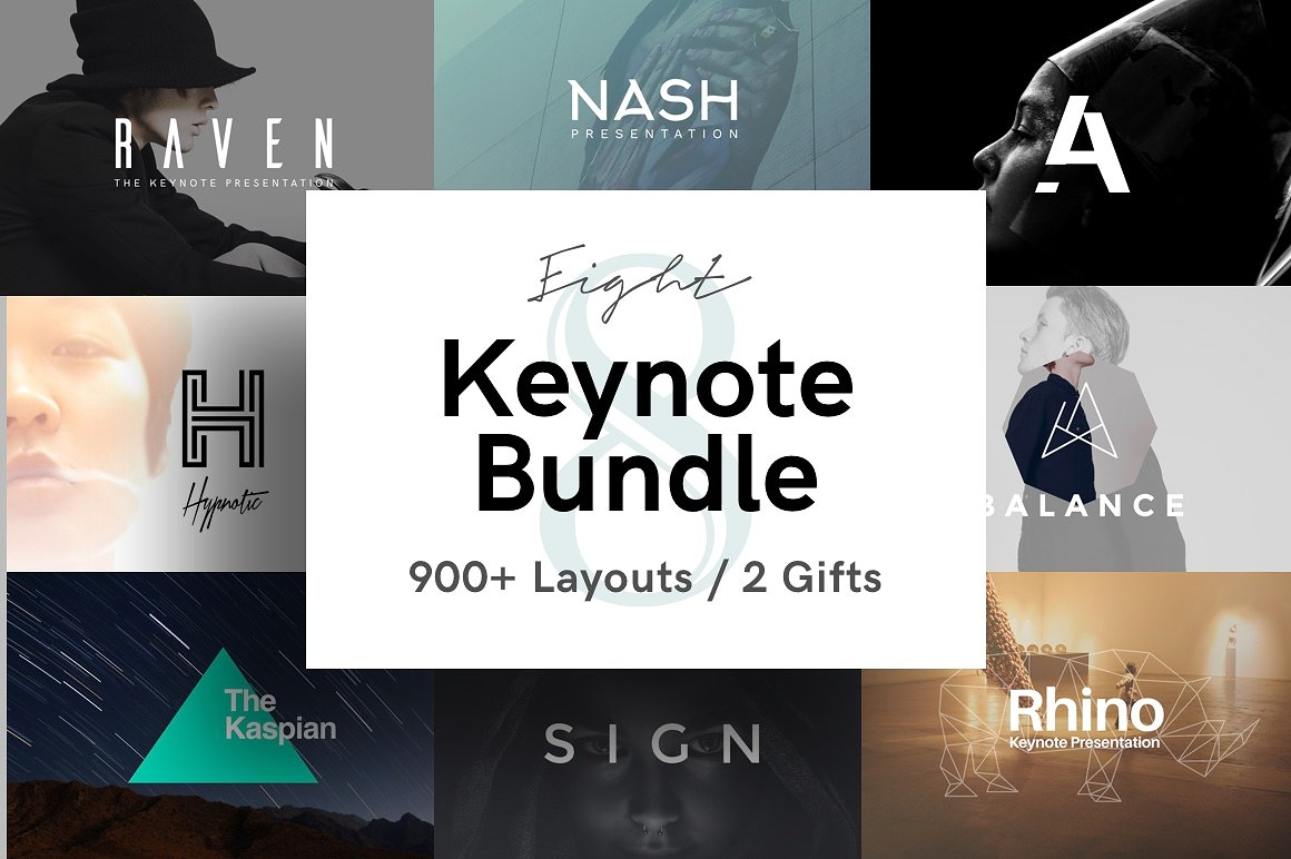 11. 8 Keynote Presentation Bundle