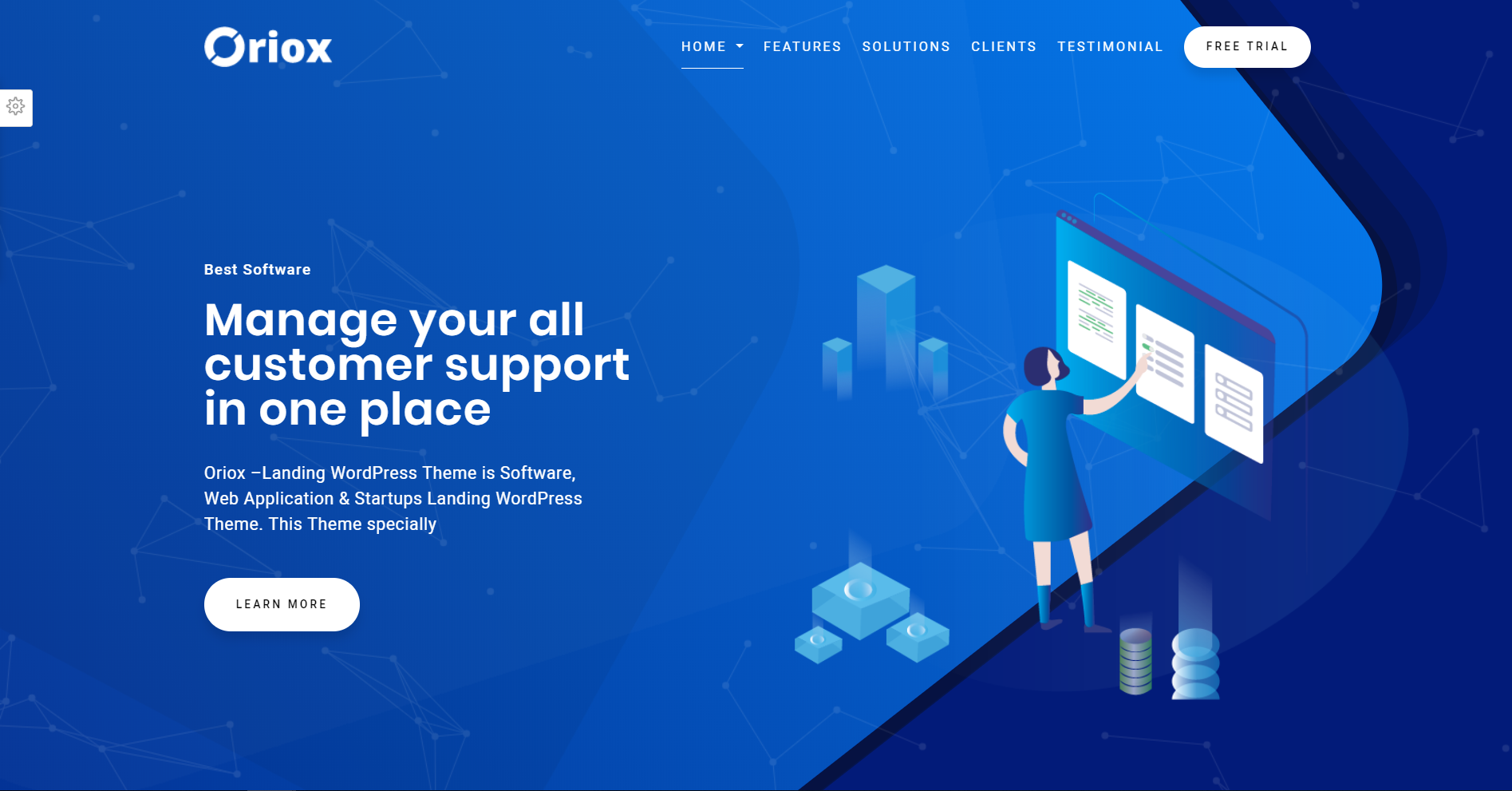 11. Orix - WordPress Landing Page