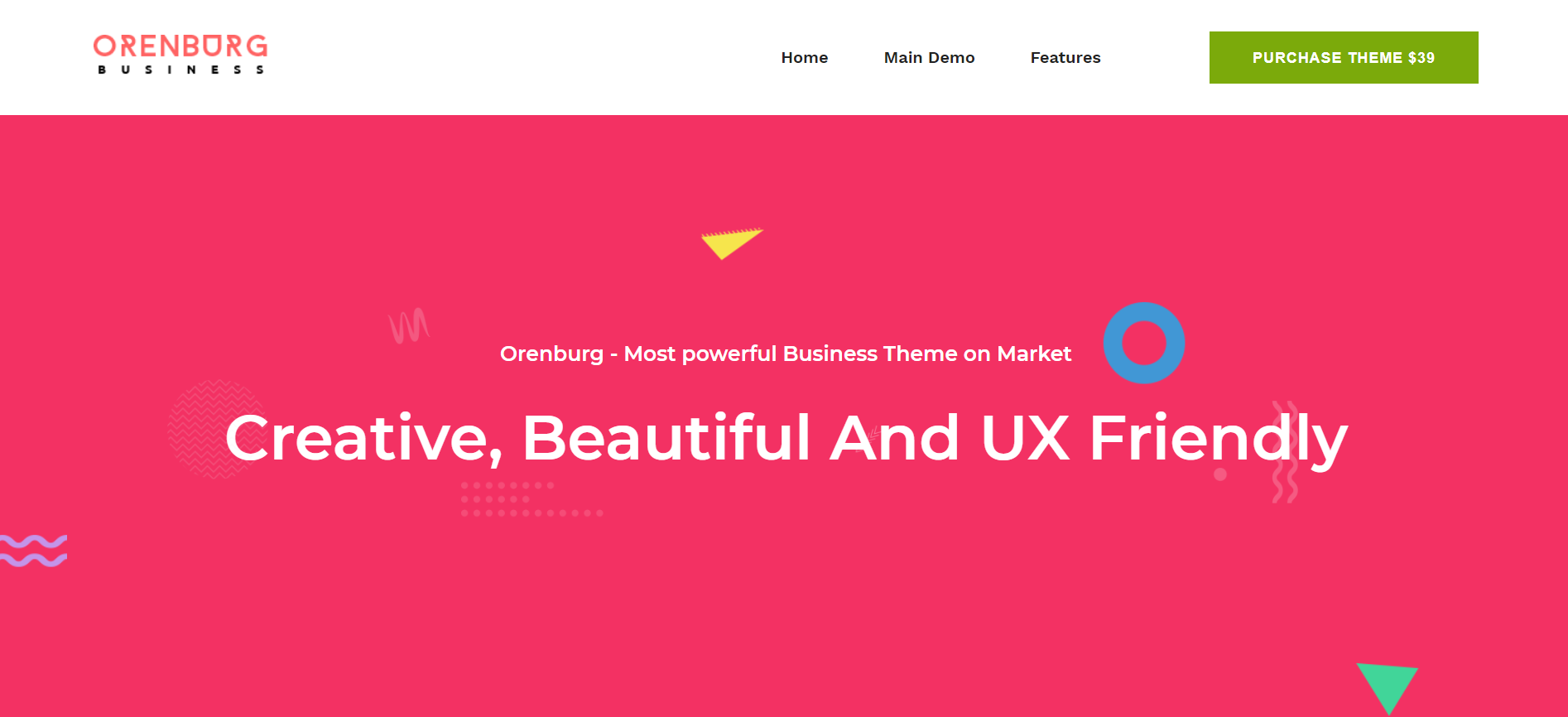 12. Orenburg - Business Consulting WordPress Theme