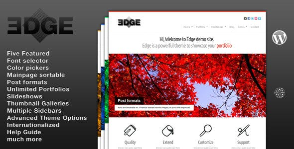 13 - Edge WordPress Portfolio Theme