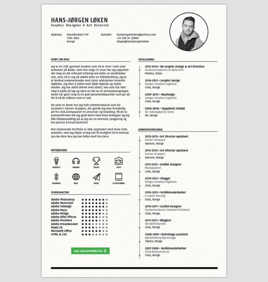 13. Free Resume Template CV