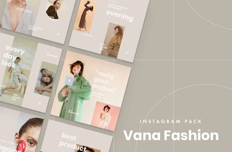 13. Vana Fashion Instagram Templates (PSD, Sketch)