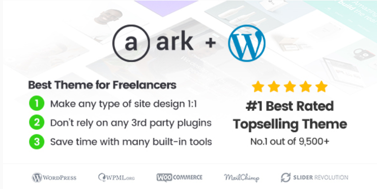 14 - The Ark WordPress Theme Made for Freelancers