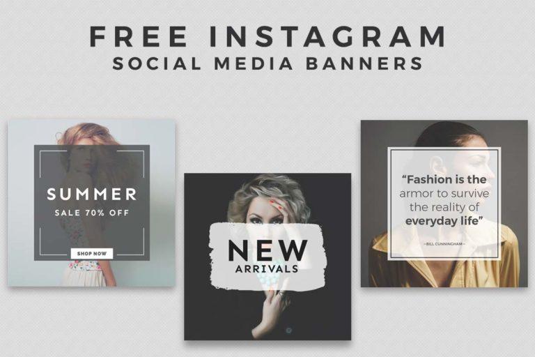 16. Free Instagram Social Media Banner Templates PSD