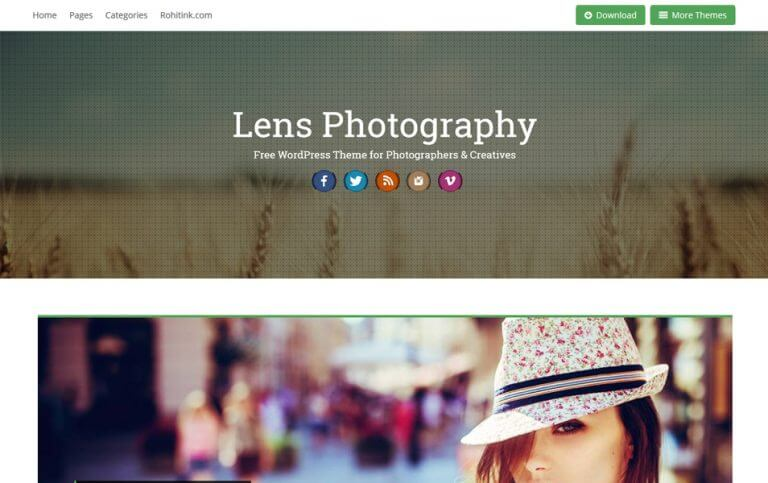 17 - Lens Responsive Photography WordPress Theme
