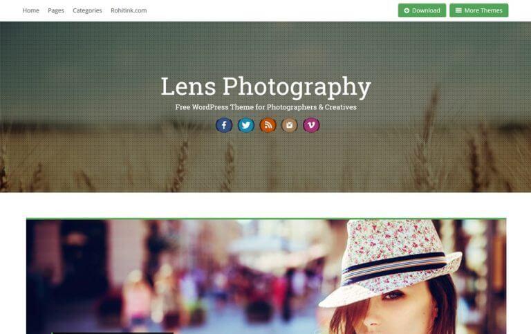 17 - Lens Responsive Photography WordPress Theme