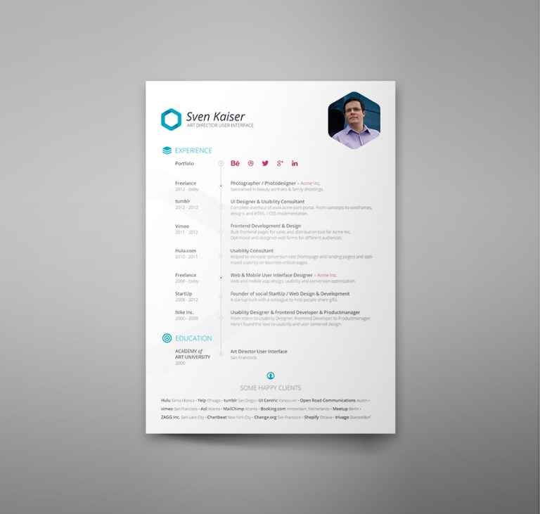 17. Free Resume Template