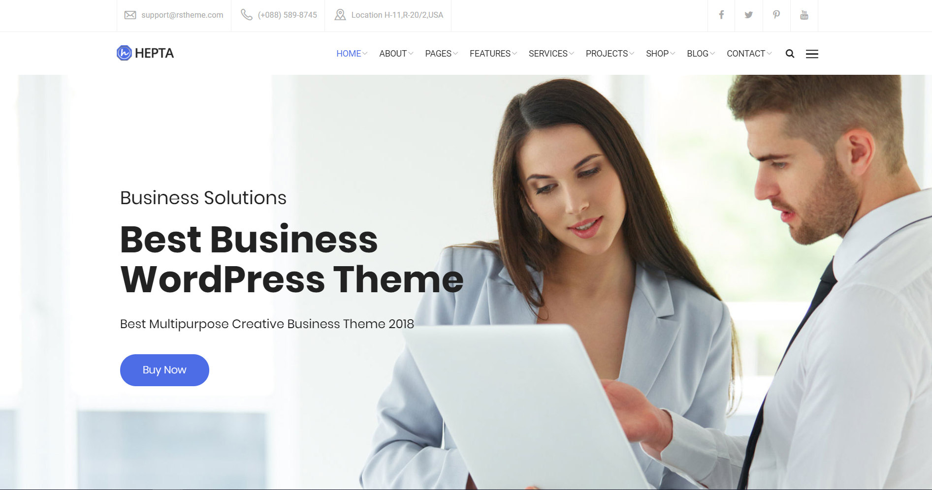 17. Hepta - Multipurpose Business WordPress Theme