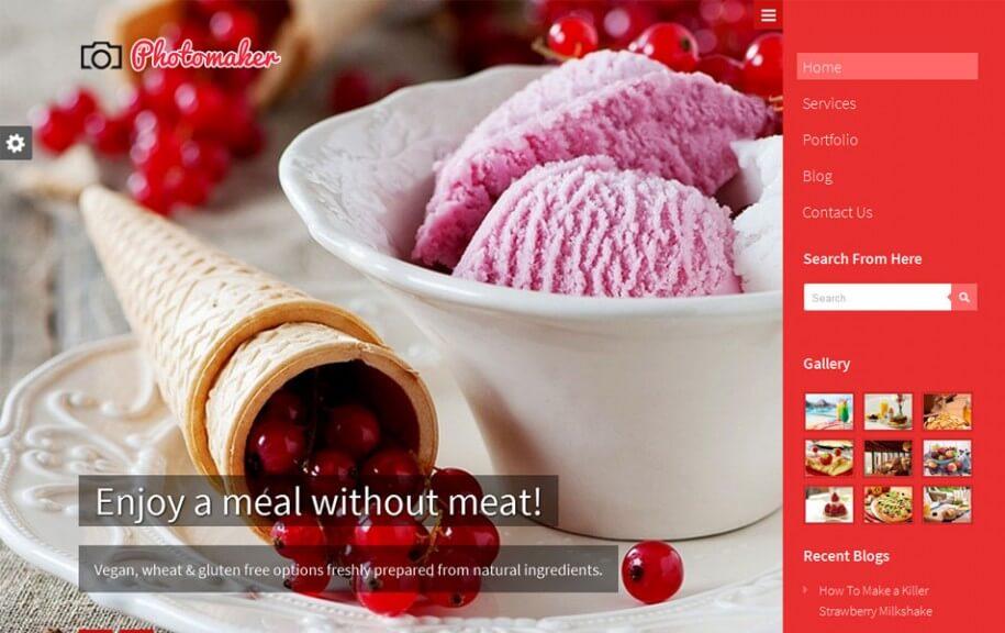 18 - PhotoMaker Free Photography WordPress Theme