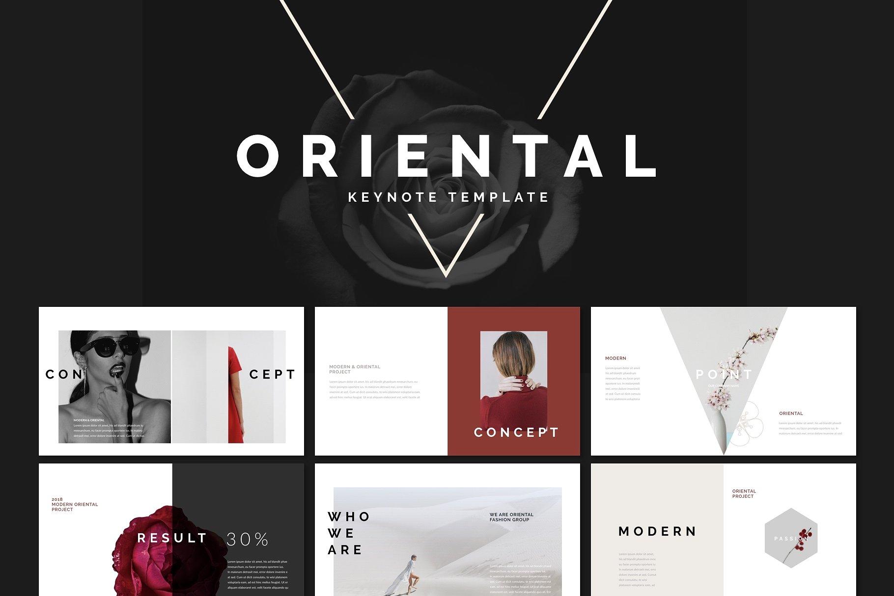 18. Oriental Keynote Template