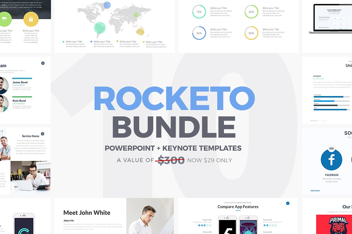 18. Rocketo PowerPoint + Keynote Bundle