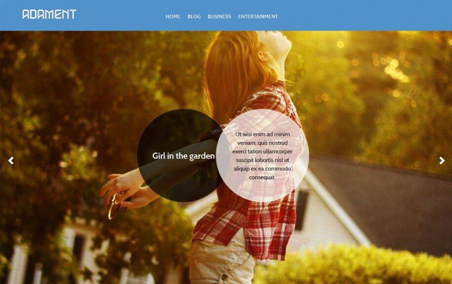 19 - Adament Free Photography WordPress Theme