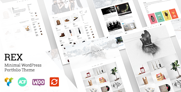 19 - Rex - Minimal WordPress Portfolio Theme