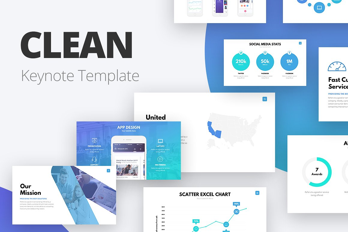 19. Clean Keynote Template