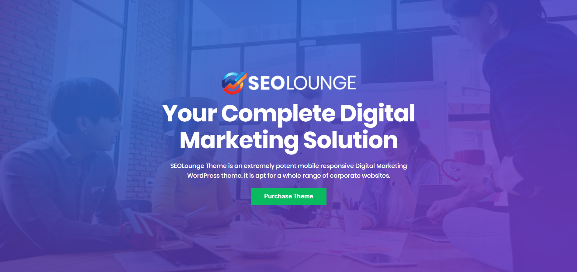 19. SEOLounge - SEO Agency WordPress Theme