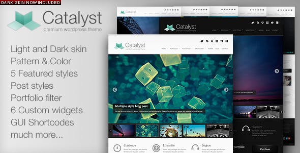 2 - Catalyst WordPress Portfolio Theme
