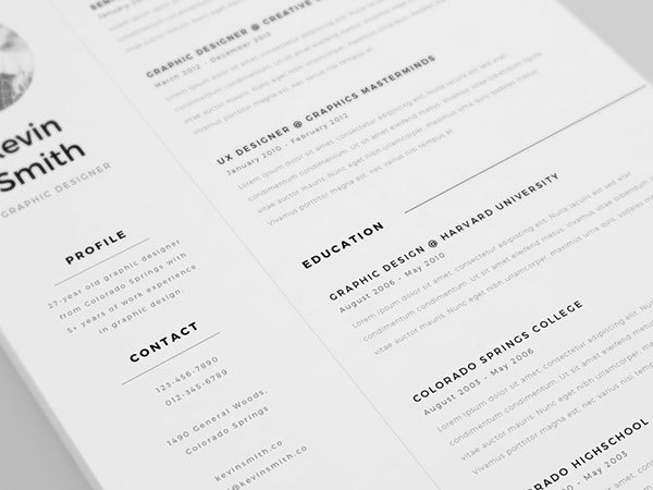2 - Free Clean and Minimal Resume Template