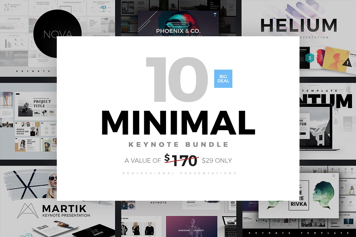2. Minimal Keynote Bundle Template