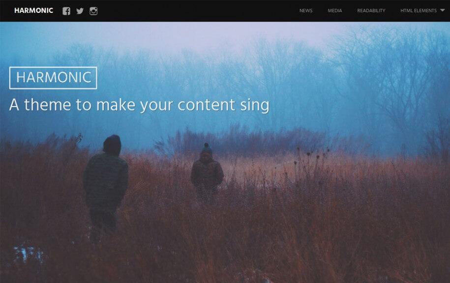 20 - Harmonic Free Photography WordPress Theme