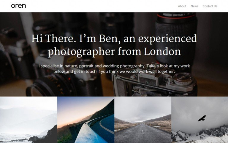 20 - Oren Responsive WordPress Theme