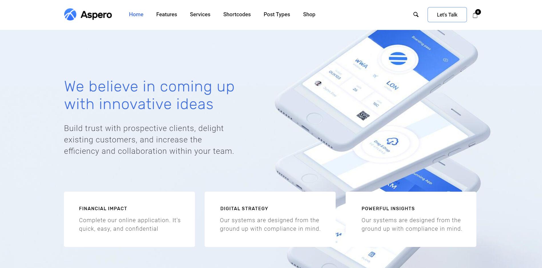 20. Aspero - Business WordPress Theme
