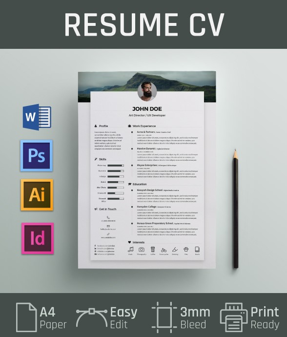 20. Free Resume CV Template