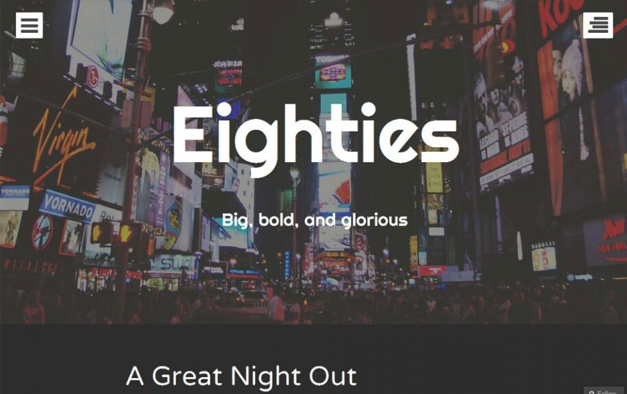 21 - Eighties Free Photography WordPress Theme