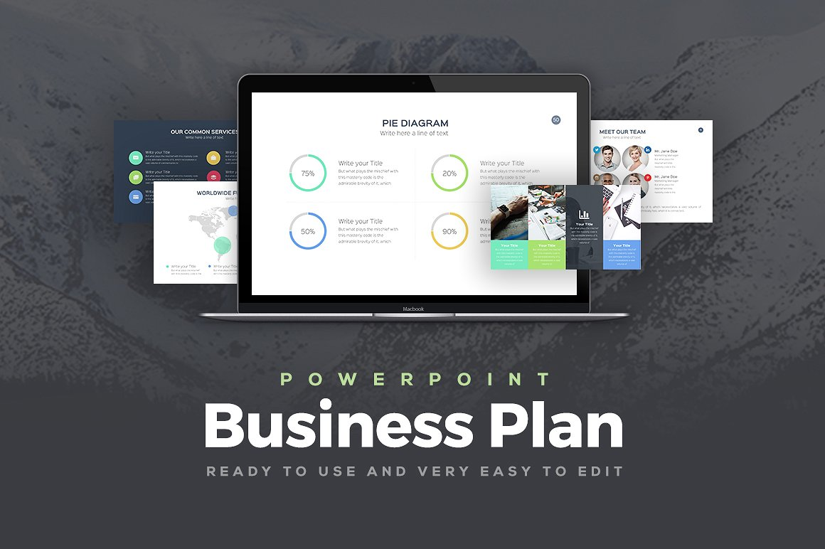 25 great business plan powerpoint templates 2018 wajeb Images