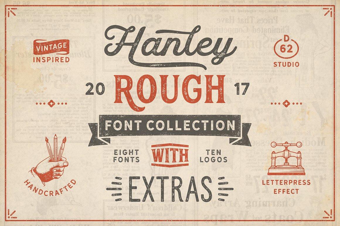 22. Hanley Rough Font Collection