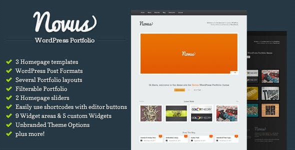 23 - Novus - WordPress Portfolio
