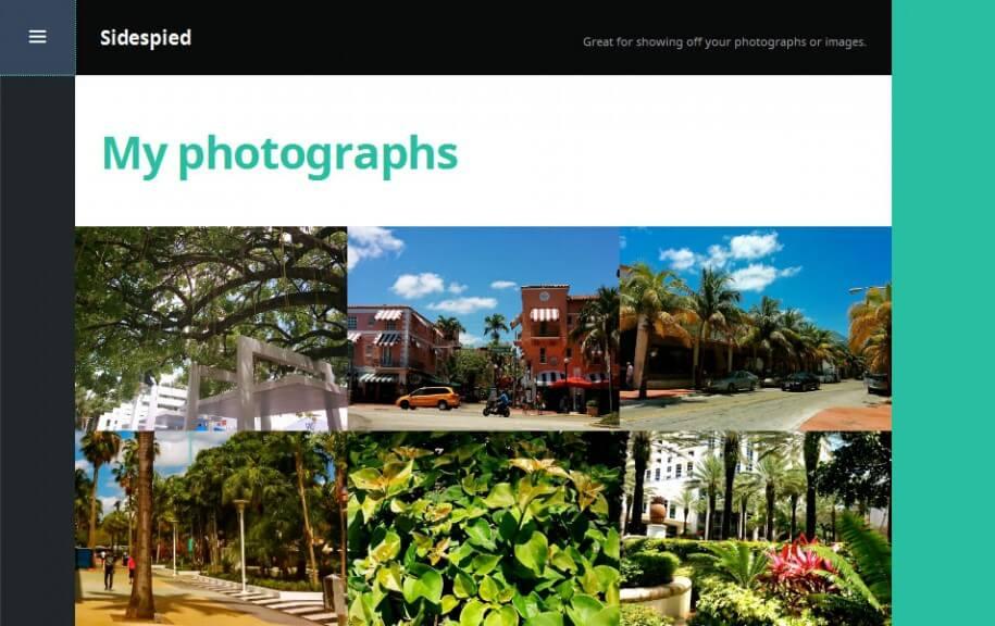 23 - Sidespied Free Photography WordPress Theme