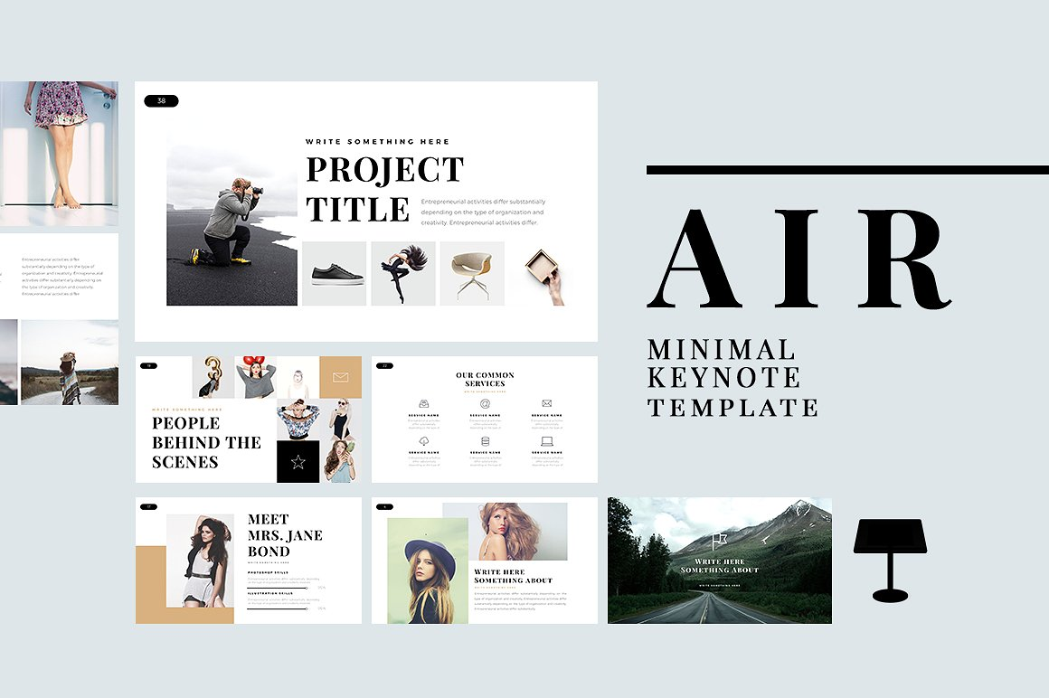 23. Air Minimal Keynote Template
