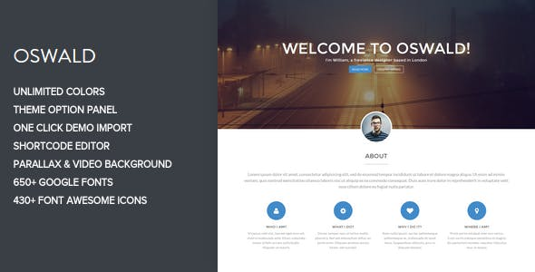 25 - Oswald - Creative WordPress Portfolio Theme
