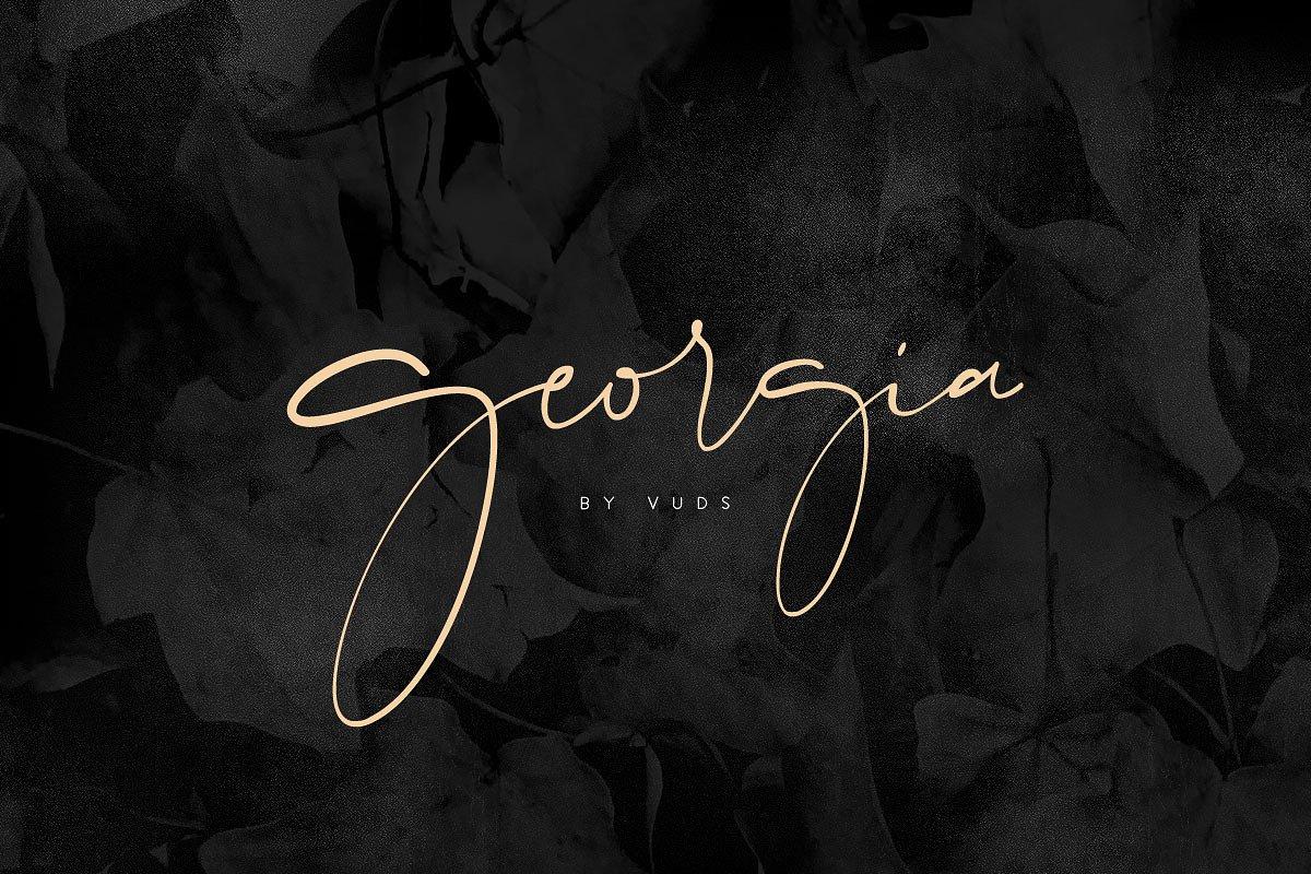 26. Georgia Script