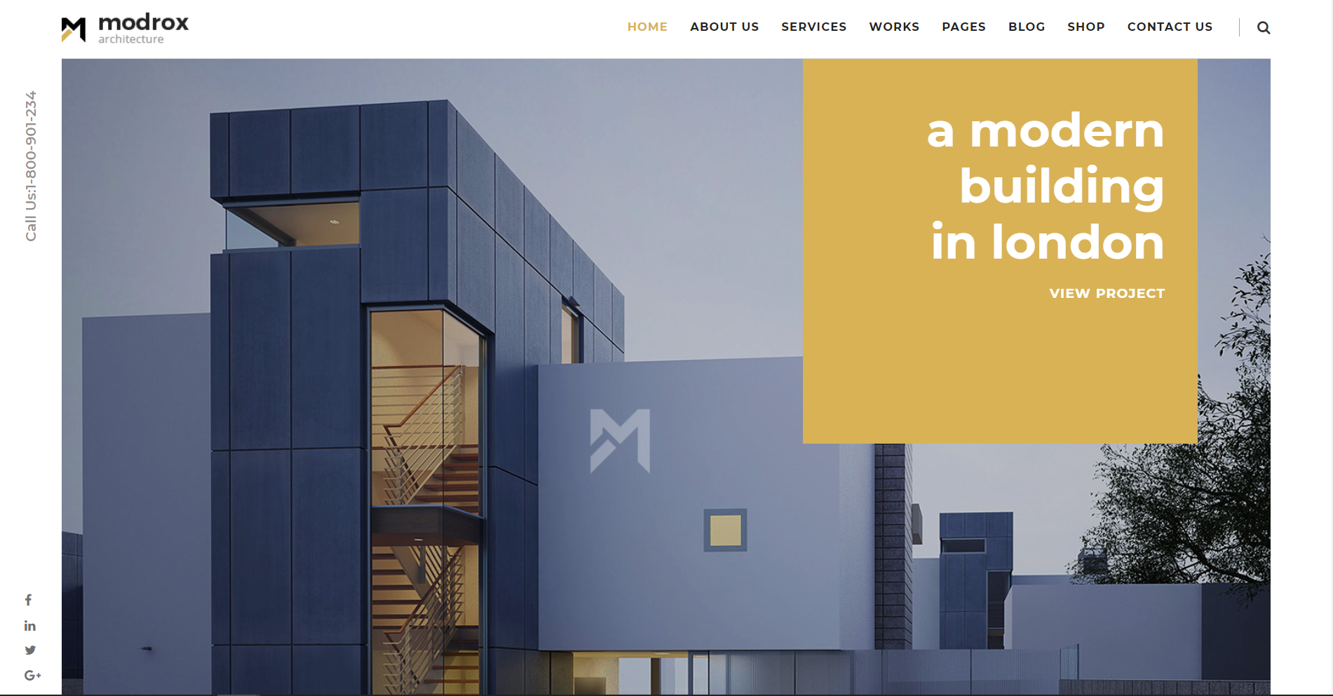 26. Modrox Architecture and Interior WordPress Theme