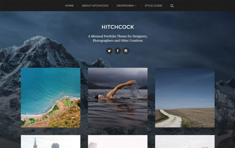 27 - Hitchcock Responsive WordPress Theme
