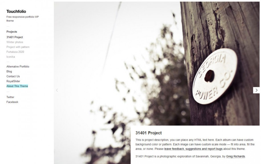 29 - Touchfolio Free Portfolio WordPress Theme