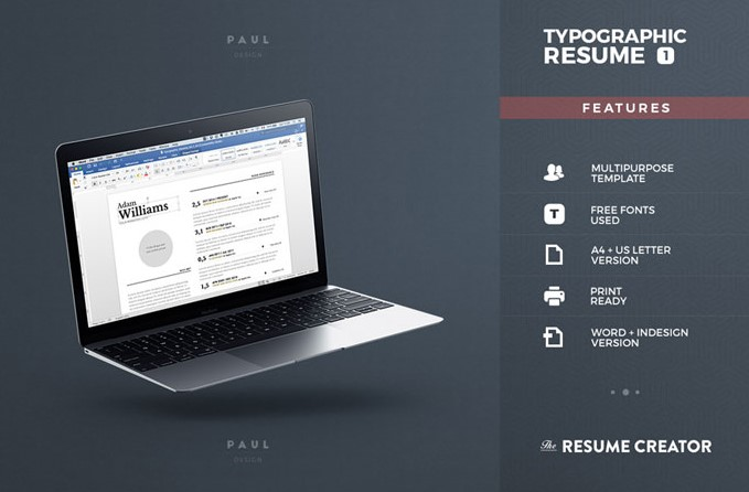 3 - Typgraphic Resume Template