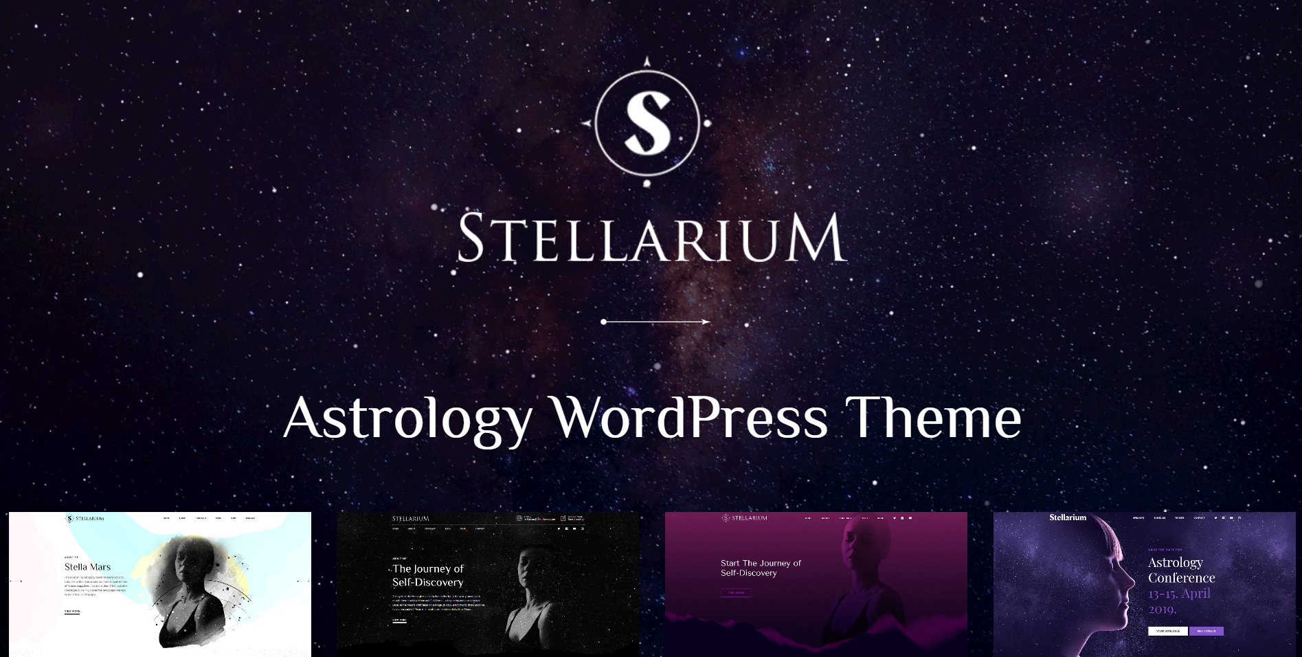 30. Stellarium - Horoscope and Astrology WordPress Theme