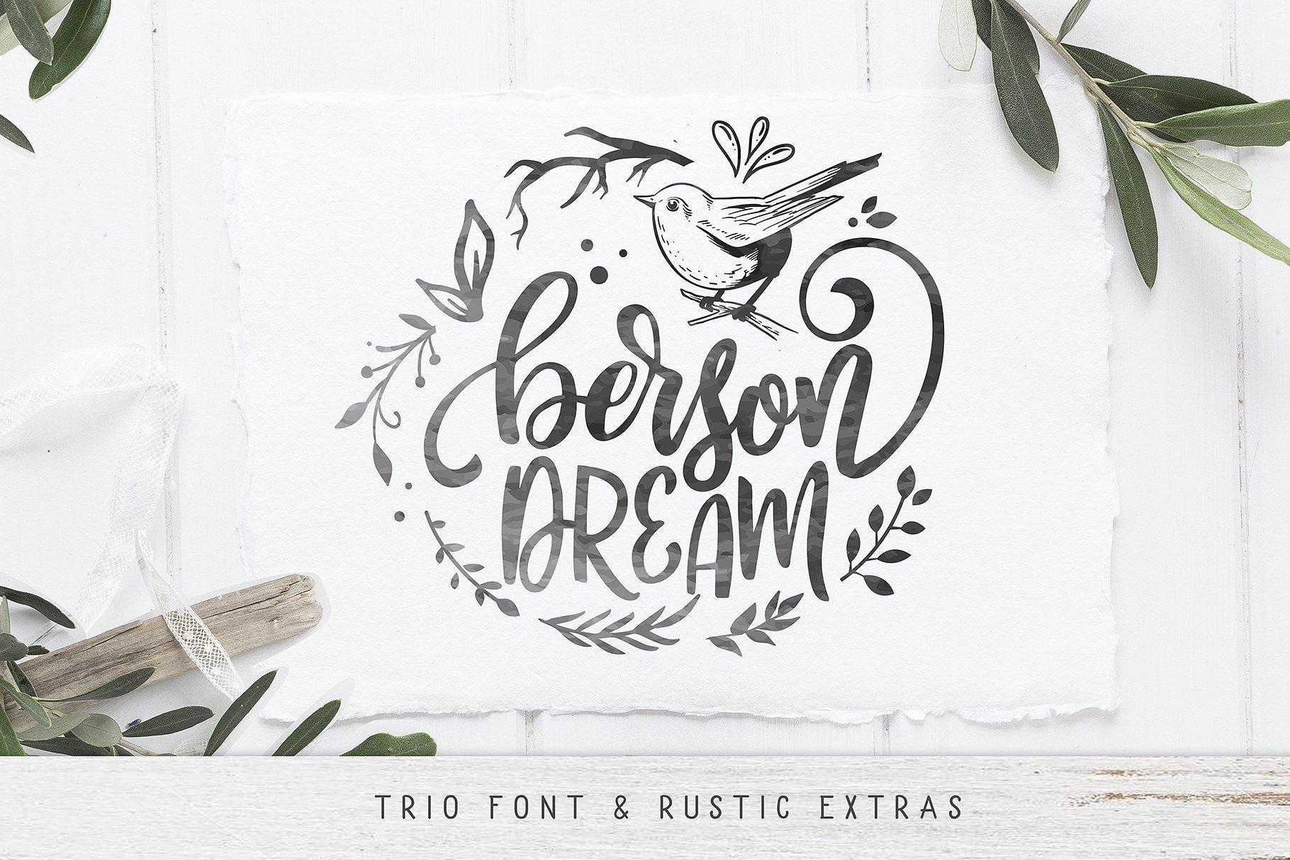 31. Berson Dream Font TRIO and extras