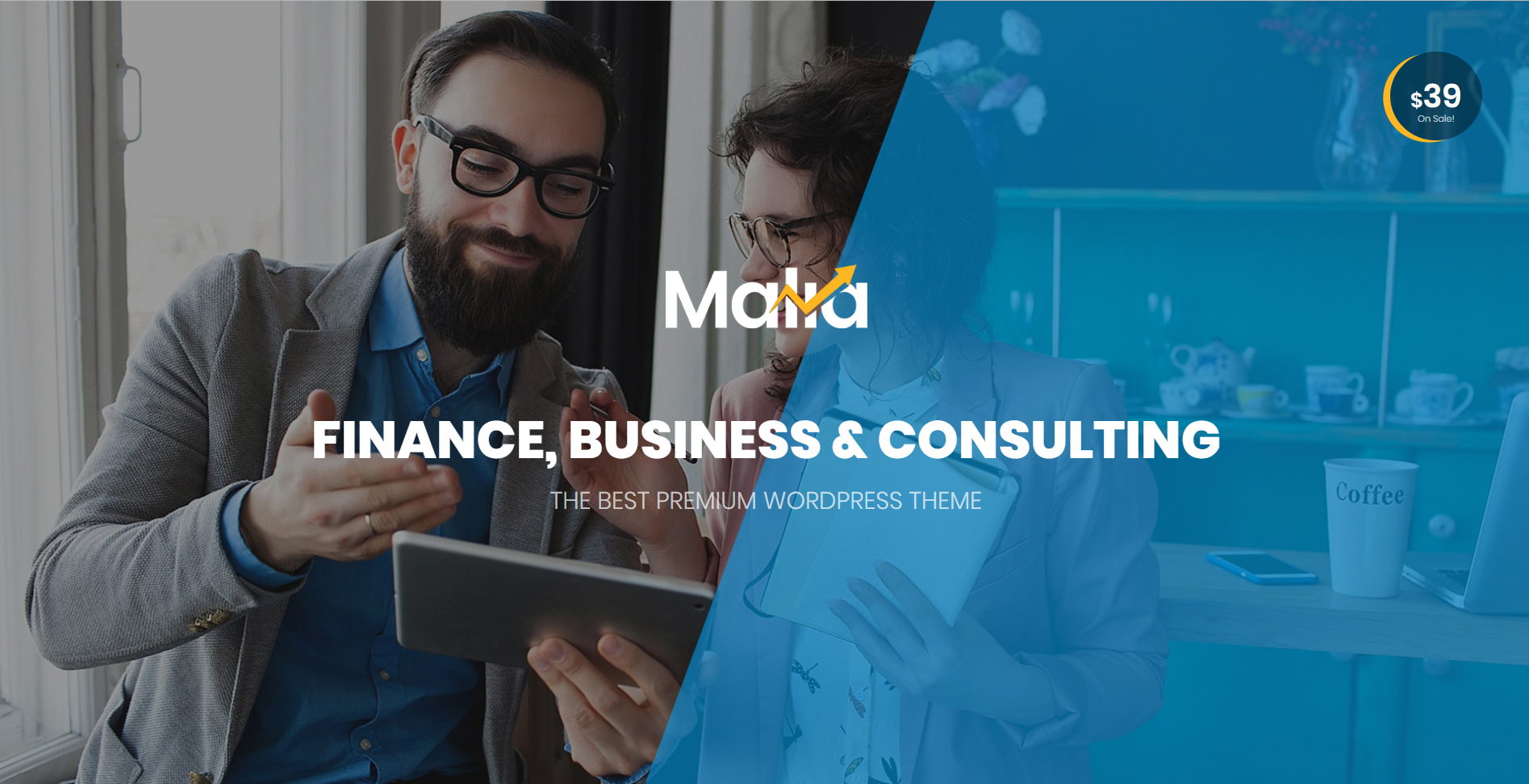 32. Malia - A Powerful Business and Finance WordPress Theme