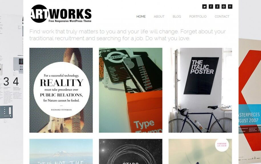 33 - Art Works Free Photography WordPress Theme