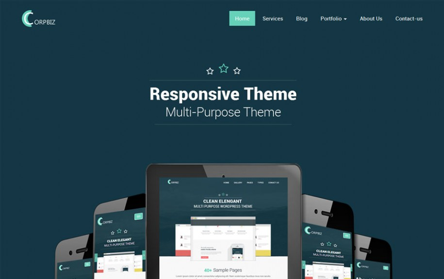 33 - Corpbiz Free Portfolio WordPress Theme