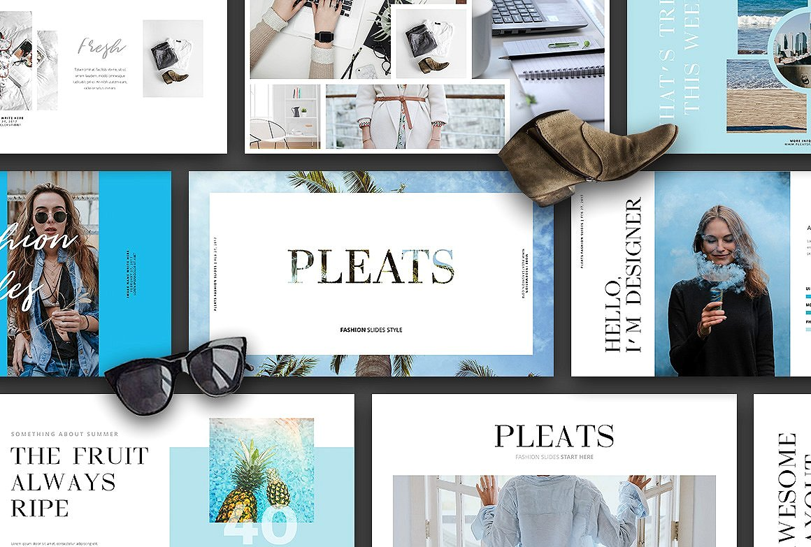 33. (40% OFF) PLEATS - Keynote Slides